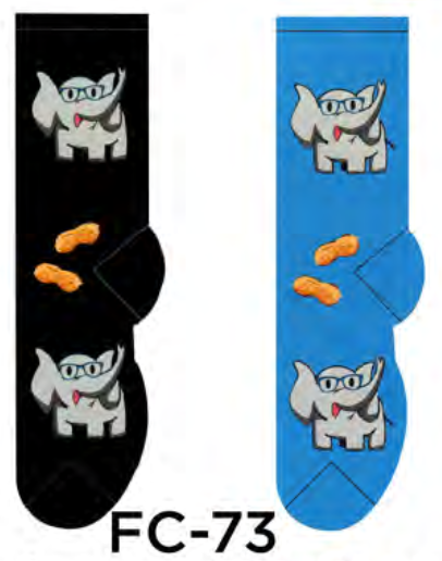 Ladies Professor Elephant Socks