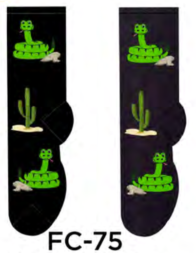 Ladies Rattlesnake Socks