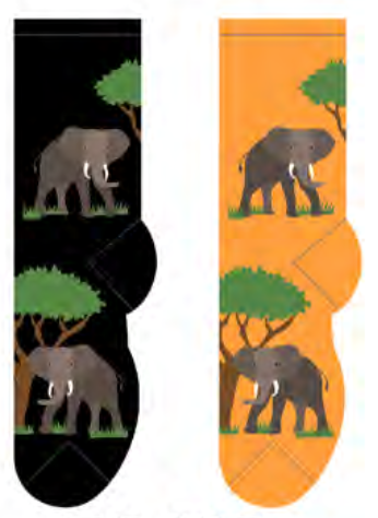 Ladies African Elephant Socks