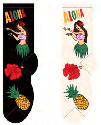 Ladies Aloha Socks