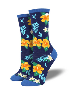 Ladies Aloha Floral Socks