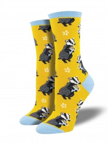 Ladies Bashful Badger Socks