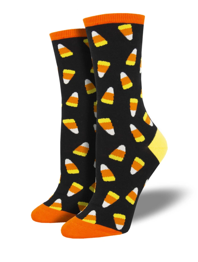 Ladies Candy Corn Socks