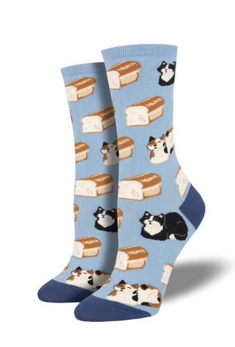 Ladies Cat Loaf Socks