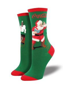 Ladies Classic Coke Santa Socks