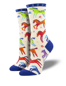 Ladies Dancing Horses Socks