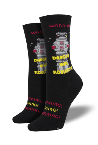 Ladies Danger Will Robinson Socks