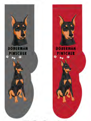 Unisex Doberman Pinscher Socks