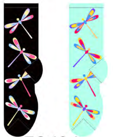 Ladies Dragonflies Socks
