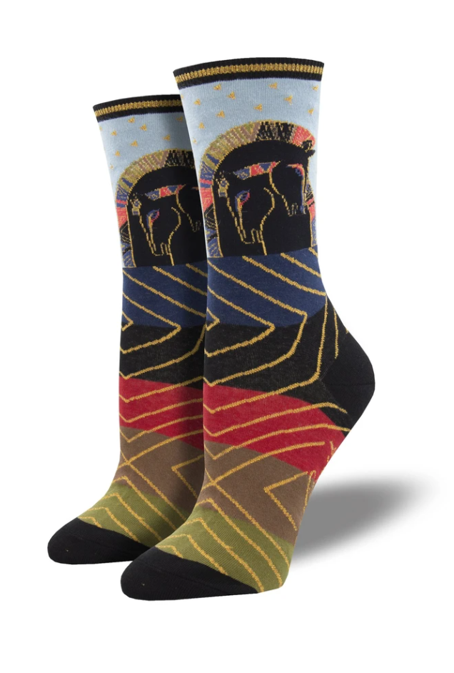 Ladies Embracing Horses Socks