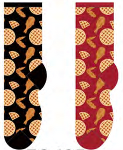 Ladies Fried Chicken & Waffles Socks