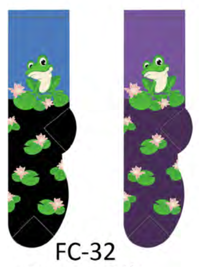 Ladies Frog On A Lily Socks