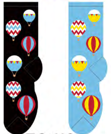 Ladies Hot Air Balloons  Socks