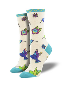 Ladies Hummingbird Blossom Socks