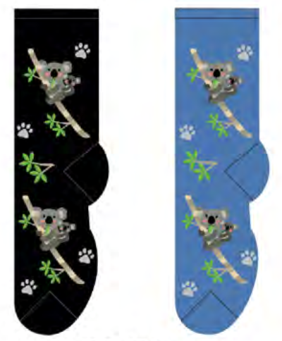 Ladies Koala Mom & Baby Socks