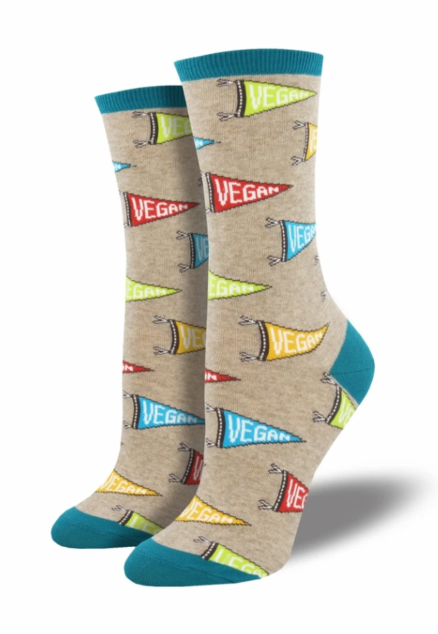 Ladies Let Your Vegan Flag Fly Socks