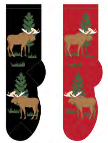 Ladies Maine Moose Socks