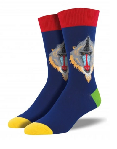 Mind Your Mandrills Socks