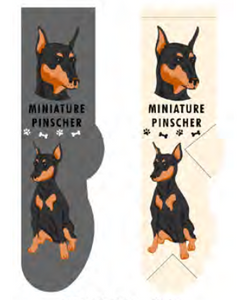 Unisex Miniature Pinscher Socks