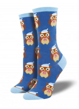 Ladies Owl Ready For Winter Socks