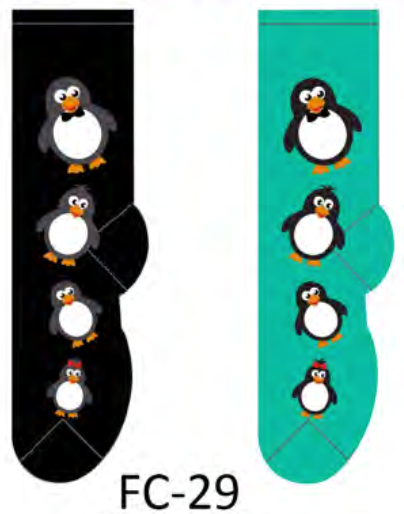 Ladies Penguin Socks