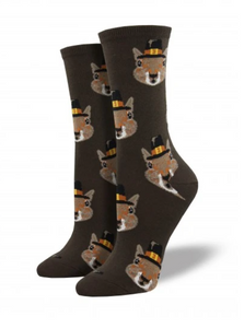 Ladies Pilgrim Squirrels Socks