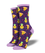 Ladies Pizza Loves Pineapple Socks