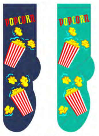 Ladies Popcorn Mini-Buckets Socks
