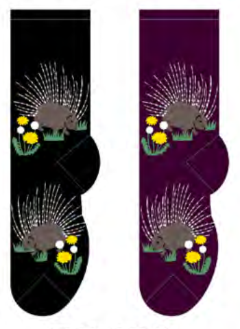 Ladies Porcupine Socks