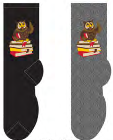 Ladies Professor Owl Socks
