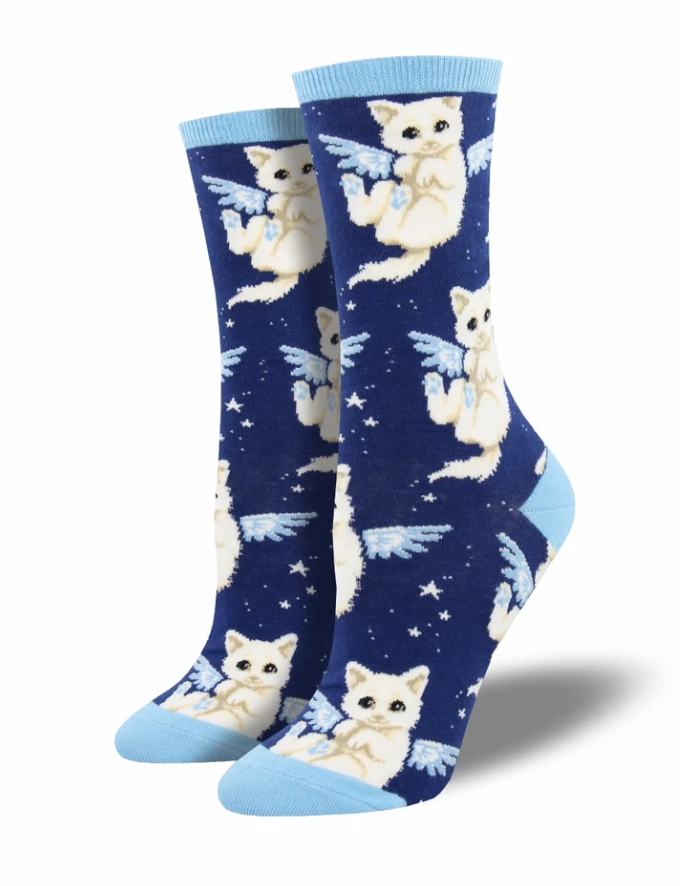 Ladies Purrfect Angel Socks