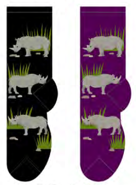 Ladies Rhinoceros Socks