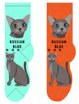 Unisex Russian Blue Socks