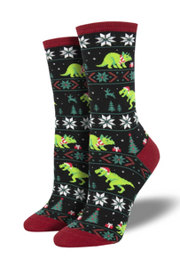 Ladies Santasaurus Rex Socks