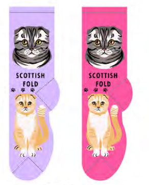 Unisex Scottish Fold Socks