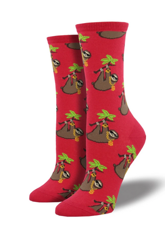 Ladies Sloth Bling Socks