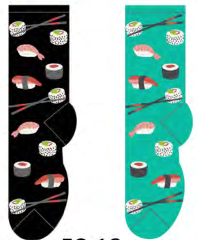 Ladies Sushi Socks