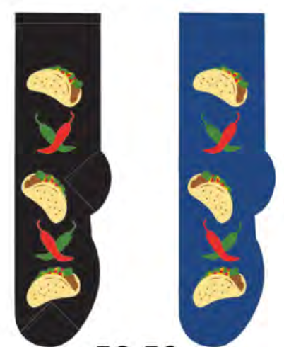 Ladies Taco Time Socks