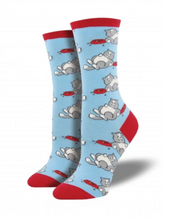 Ladies Time For A Cat Nap Socks