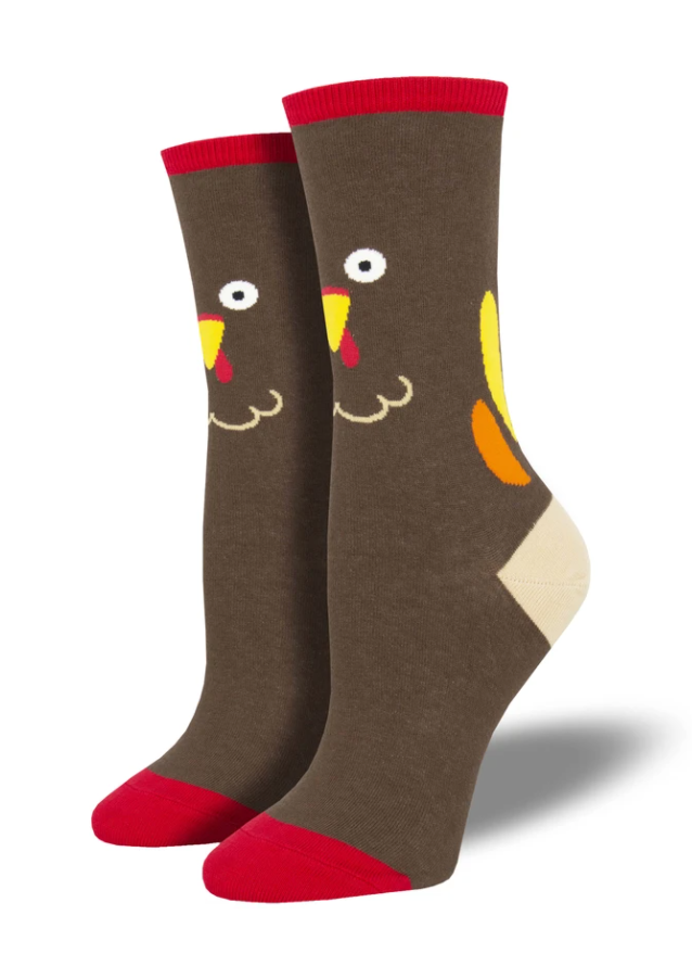 Ladies Turkey Face Socks