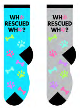 Unisex Who Rescued Who? Socks
