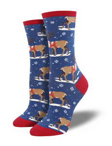 Ladies Winter Reindeer Socks