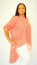 Load image into Gallery viewer, Oversize Runway Stripe Shirt