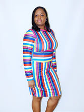 Load image into Gallery viewer, Lucy Stripe Dress