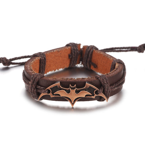 Gorgeous Batman Leather Bracelet (Unisex)