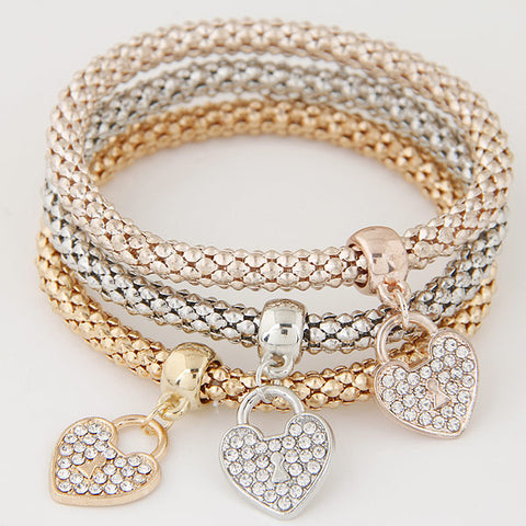 3 Piece Set Crystal bracelets