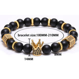 Natural Stone Crown Bracelet For Men