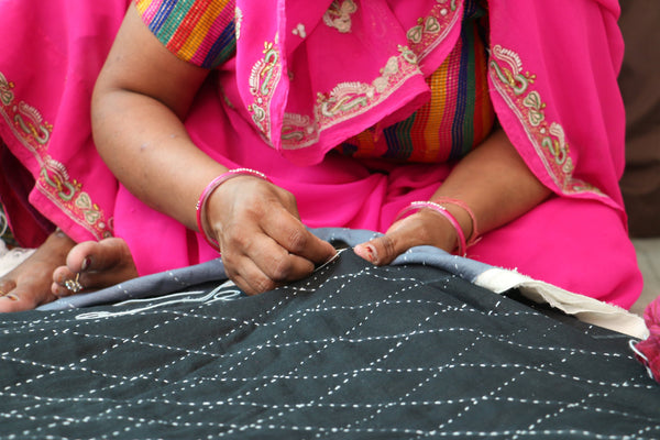 Spotlight on Anchal Project: a modern take on kantha quilting with women artisans in Ajmer, India