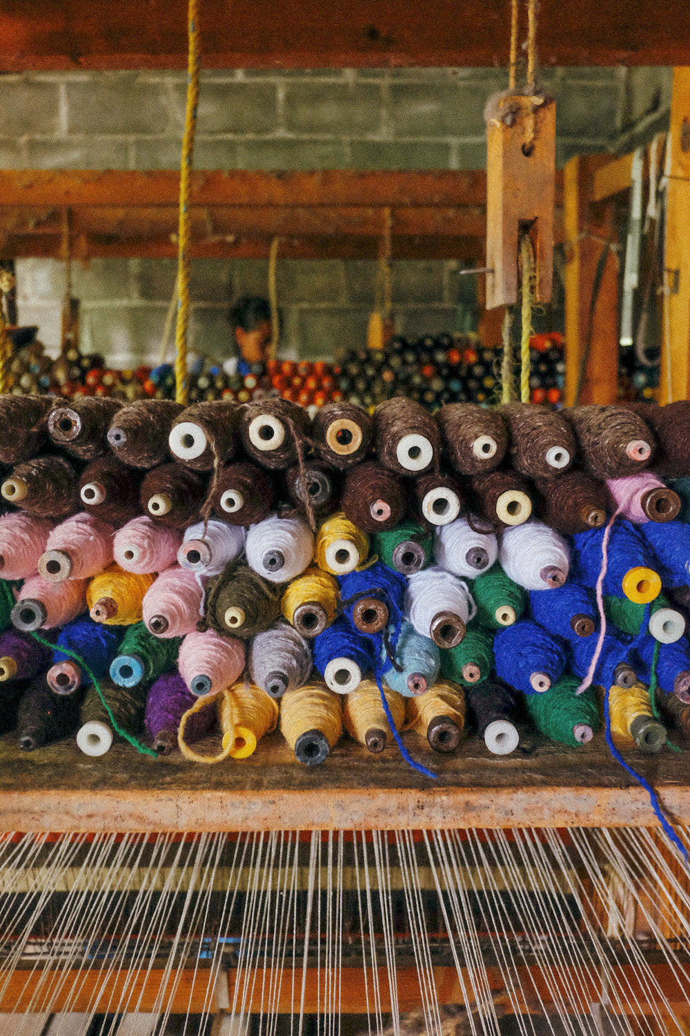 Spools for weaving