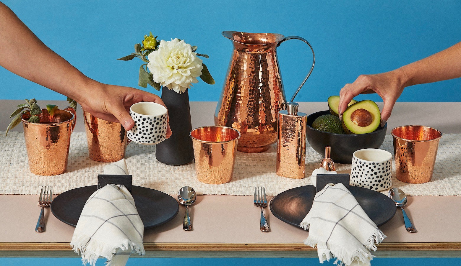 Sertodo Copper recycled copper fair trade drinkware and cookware